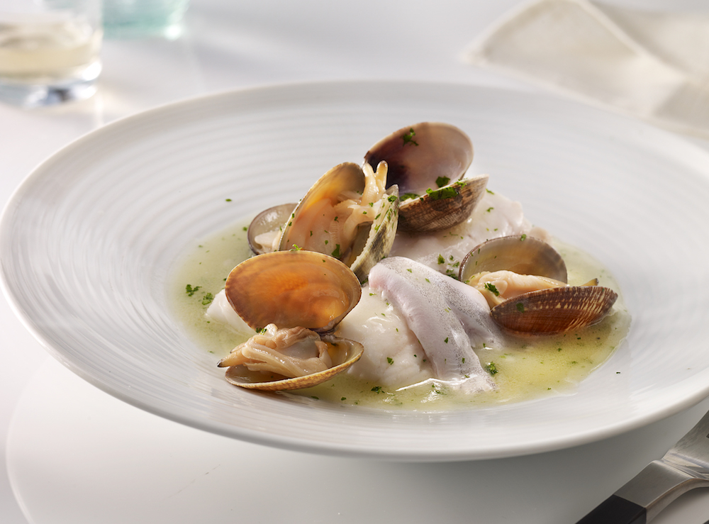 Hake in green sauce with clams at Abama Tenerife