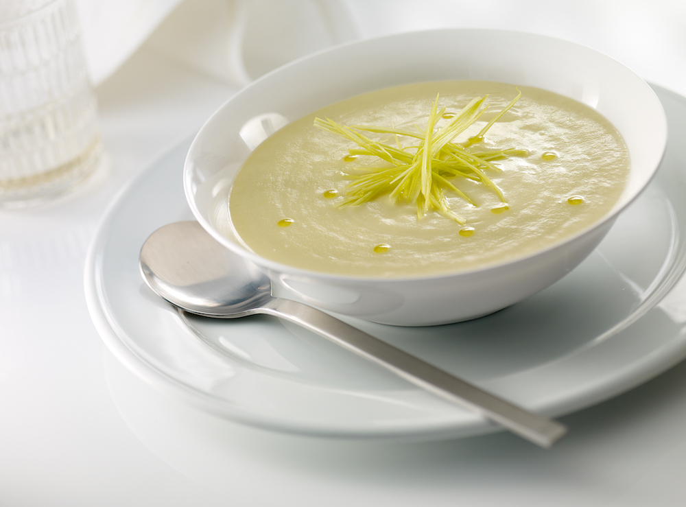 Soup parmentier from Melvin restaurant at Abama Tenerife