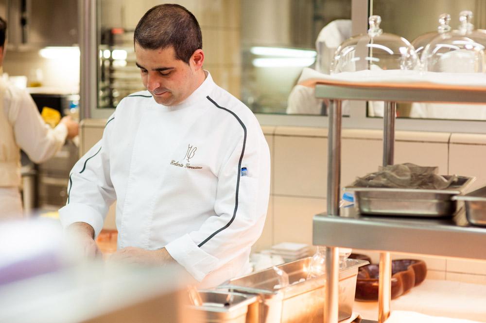 Chef Erlantz Gorostiza, Michelin star restaurant M.B, Abama